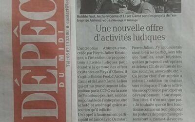 LA DÉPÊCHE & Animez-vous – Bubble Foot/Archery Game – Loisirs Ariège