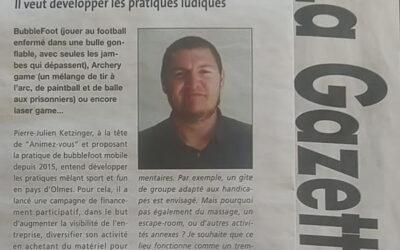 La Gazette Ariègeoise & Animez-vous – Bubble Foot/Archery Game – Loisirs Ariège