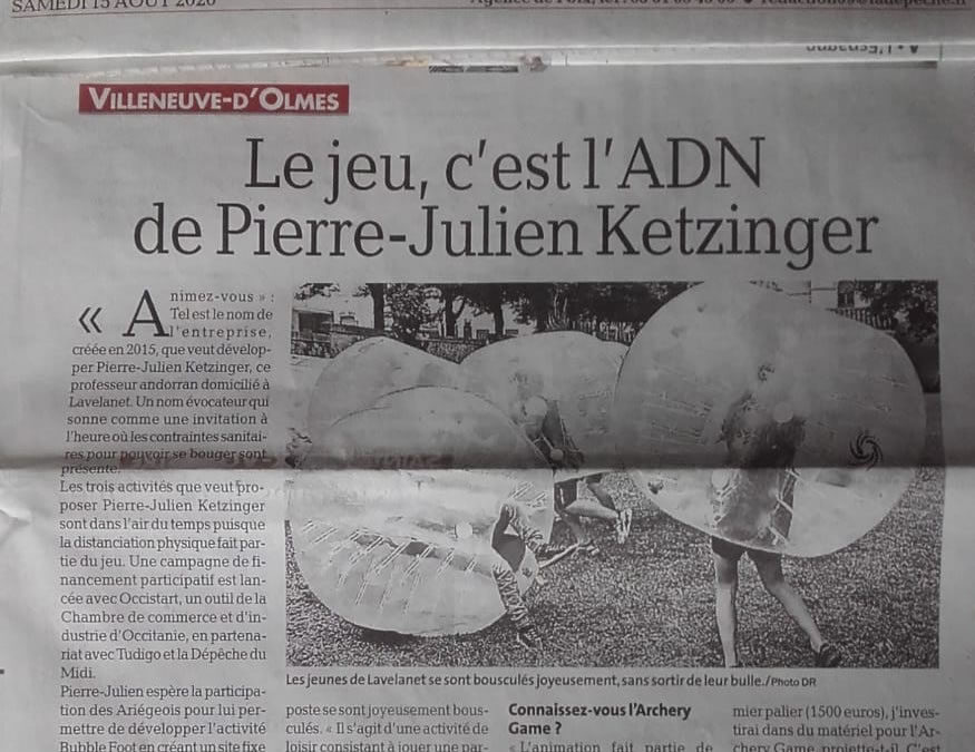 LA DÉPÊCHE Ariège & Animez-vous – Bubble Foot/Archery Game – Loisirs Ariège